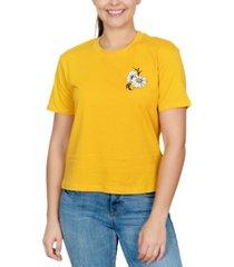 rebellious one juniors' cotton daisy back graphic t-shirt