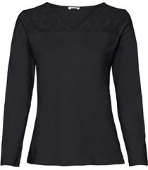 shirt met kant, zwart 48