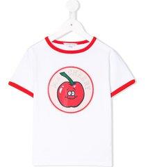 little marc jacobs ringer cherry t-shirt - white