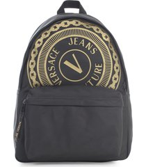 versace jeans couture l macro v button backpack