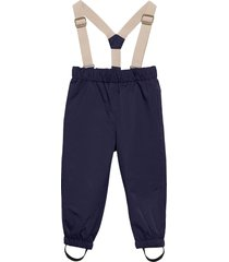 wilans suspenders pants, k outerwear shell clothing shell pants blå mini a ture