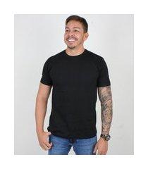 camiseta basica masculina gola careca lucas lunny lisa preto ....