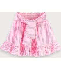 scotch & soda striped cotton skirt