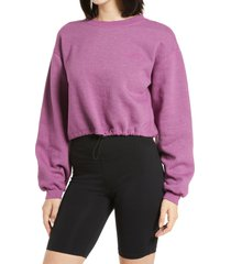 women's bdg urban outfitters bubble hem sweat top, size large - pink