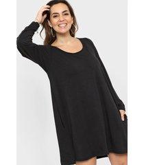 vestido negro minari bolsillos