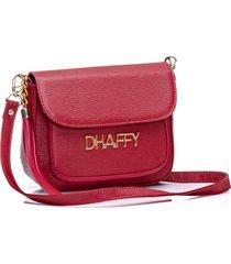 bolsa dhaffy bolsas com bolso na frente vermelho