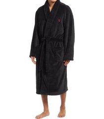 men's polo ralph lauren microfiber men's robe, size small/medium - black