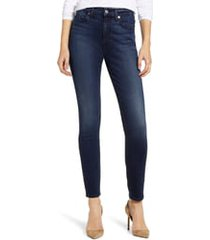 women's 7 for all mankind high waist ankle skinny jeans, size 26 - blue