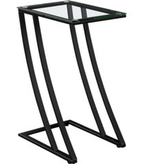 monarch specialties accent table - with tempered glass