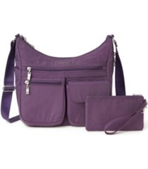 baggallini women's everywhere crossbody with rfid wristlet