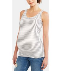 a pea in the pod luxe rib knit maternity tank top