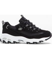 sneaker in pelle skechers (nero) - skechers
