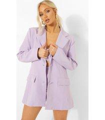 getailleerde long line blazer, lilac