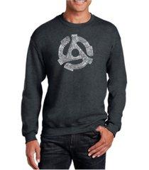 la pop art big & tall men's word art record adapter crewneck sweatshirt