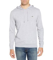 men's lacoste pullover hoodie, size 7 - grey