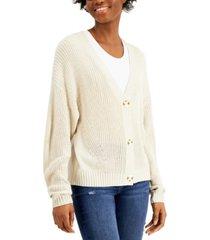 freshman juniors' drop-shoulder cardigan sweater