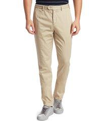 saks fifth avenue men's collection modern-fit soft chino pants - khaki - size 32