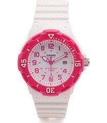 reloj analógico mujer casio lrw-200h-4b - blanco