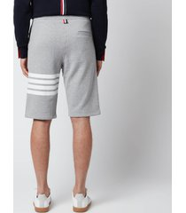 thom browne men's engineered four-bar classic loopback sweat shorts - light grey - 5/xxl