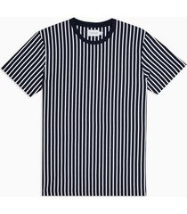 mens navy and white vertical stripe t-shirt