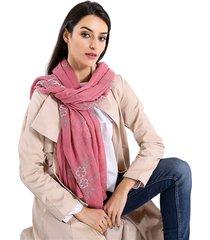 sciarpe ricamate delle donne ricamate del fiore di stile dell'annata sciarpa di scialli retrò di cotone lungo oversize