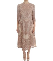 silk lace ricamo shift jurk