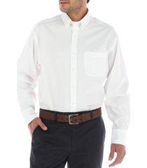 camisa algodón libre de arrugas blanco rockford