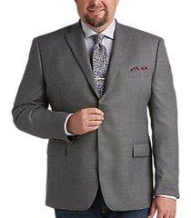 lauren by ralph lauren gray check portly fit sport coat