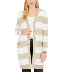 tommy hilfiger colorblocked button-down cardigan