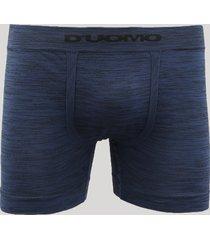 cueca boxer masculina mescla sem costura d'uomo azul marinho