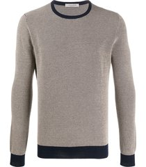 fileria crew neck cotton sweatshirt - neutrals