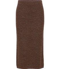 elisha knälång kjol brun stylein