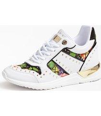 sneakersy w kwiaty z ćwiekami model rejjy