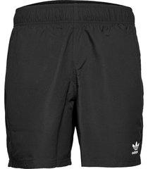 adicolor essentials trefoil swim shorts badshorts svart adidas originals