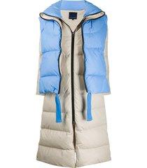 sjyp convertible layered padded coat - blue
