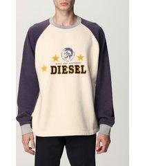 diesel sweatshirt diesel crewneck sweatshirt in cotton with embroidered logo