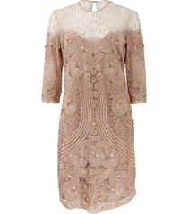 beaded crew neck dress