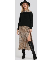 na-kd shoes lace up knee high boots - black