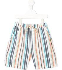 velveteen luca striped shorts - multicolour