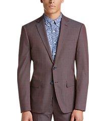calvin klein x-fit wine twill extreme slim fit suit