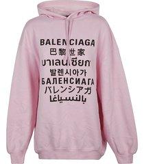 balenciaga oversize printed hoodie
