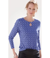 shirt mona royal blue::wit