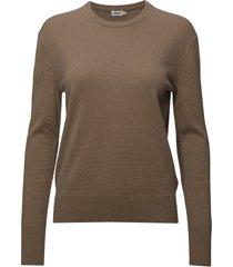 cashmere r-neck sweater stickad tröja brun filippa k