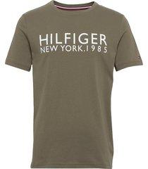 cn ss tee logo t-shirts short-sleeved grön tommy hilfiger