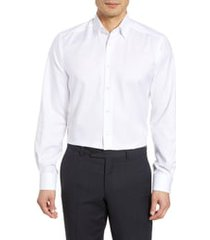 men's big & tall eton contemporary fit solid dress shirt, size 18 - white