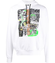 diesel s-alby-d1 relaxed-fit hoodie - white