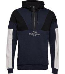 m original blocked anorak hoodie trui zwart peak performance