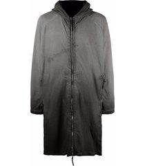 11 by boris bidjan saberi ombré longline jacket - green