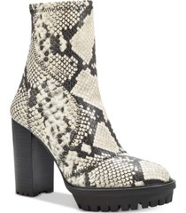 vince camuto women's erettie lug sole platform booties women's shoes