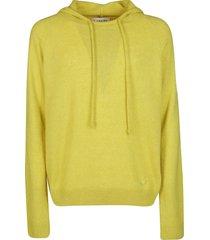 lanvin yellow silk-wool-cashmere blend sweatshirt